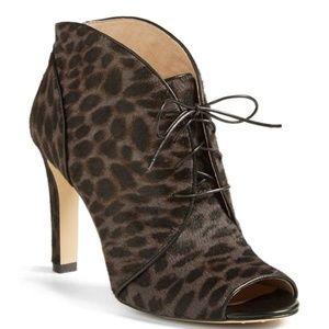 NEW Louise et Cie Vernonia Leopard Calf Hair Boot